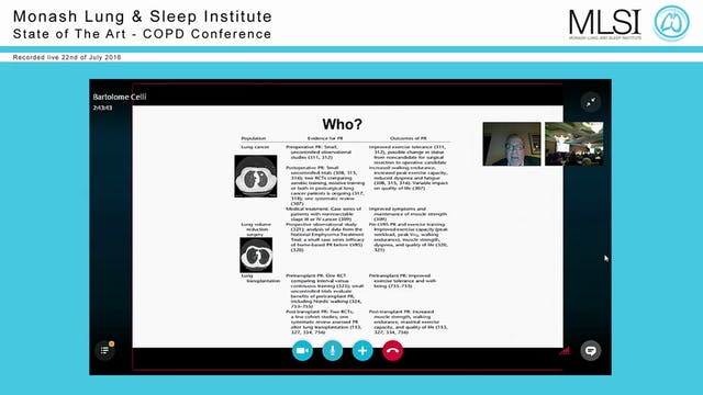 COPD Alternative and New Therapies Prof Bartolome Celli (via Skype)