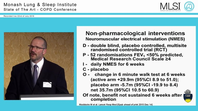 Managing Severe SOB in COPD Prof David Currow