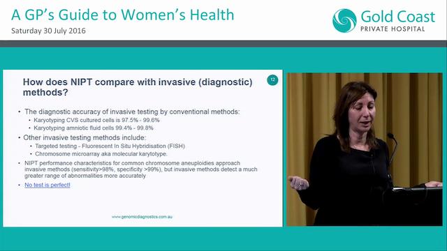 New developments in non-invasive prenatal testing Dr Melody Caramins