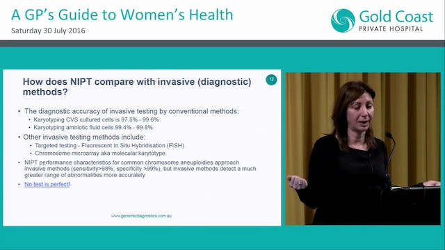 New developments in non-invasive prenatal testing Dr Melody Caramins