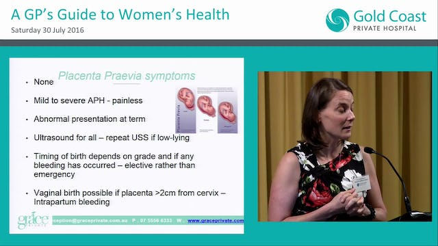 Common antenatal complications Dr Tania Widmer