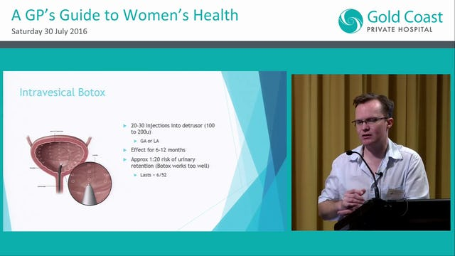 Treatment options for female incontinence and pelvic organ prolapse Christopher Tracey