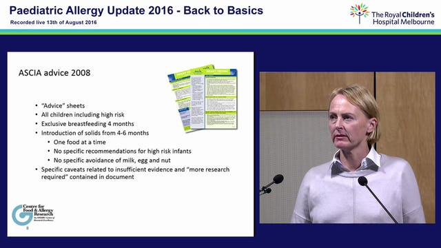 Infant feeding guidelines and advice on infant feeding for allergy prevention How we got here Professor Katie Allen