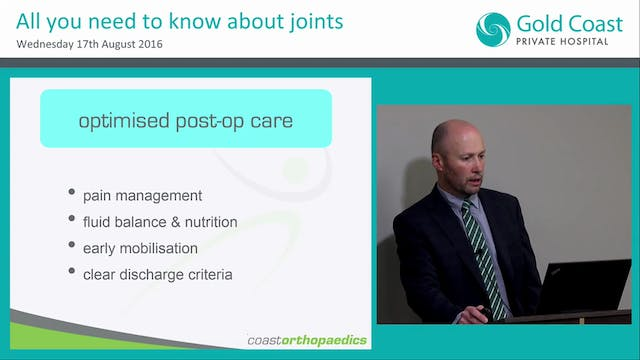 Rapid Recovery & Rehab Improving outcomes in joint replacement Dr Price Gallie