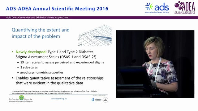 How big Social stigma among adults with diabetes and its implications for diabetes self-management Dr Jessica Browne