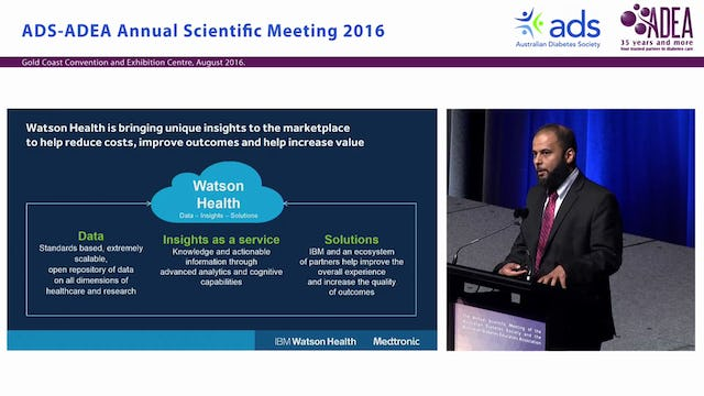 Cognitive computing and personalised wellness information in diabetes, with Medtronic and IBM Watson Health - Huzefa Neemuchwala