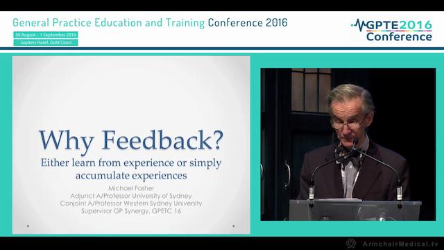 Why feedback Assoc Prof Michael Fasher