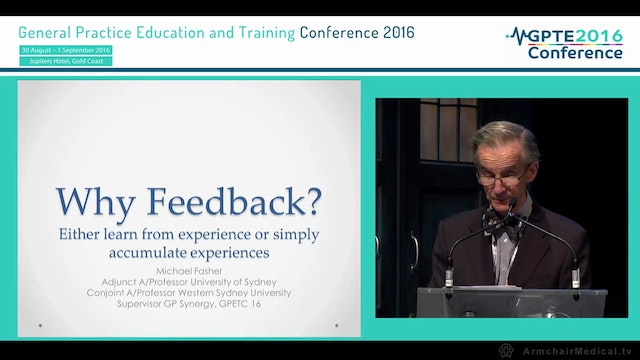 Why feedback Assoc Prof Michael Fasher