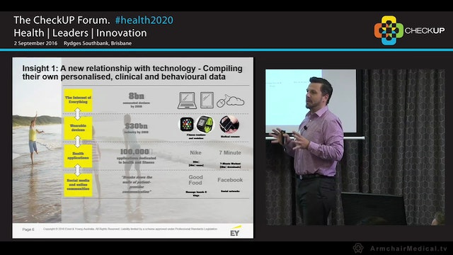 Digital Health Disruption in care models via technology Dan McInerney, Oceania Director, eHealth, EY