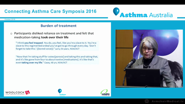 A Qualitative Study of the Lived Experience of Australians with Severe Asthma Professor Helen Reddel Canberra