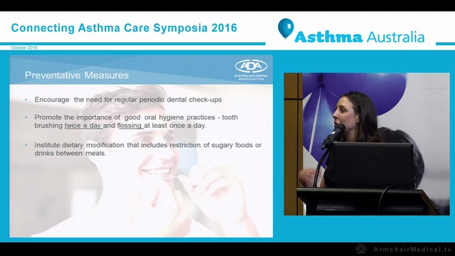 Oral health and asthma Ms Amelia Seselja