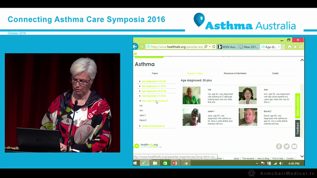 Severe asthma towards a new consumer resource Associate Professor Lorraine Smith