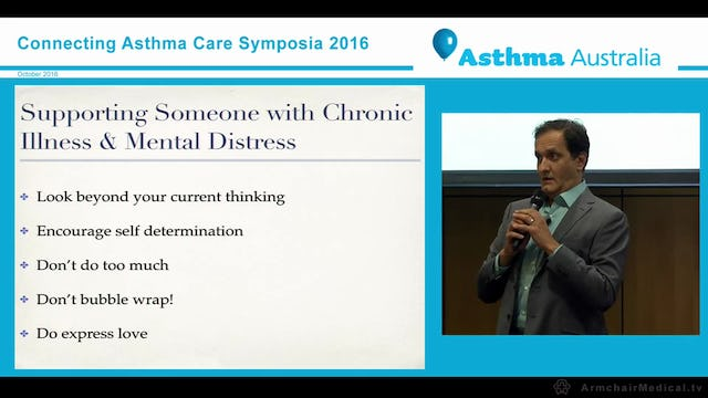 Wheezing & Wellbeing Supporting Someone with Chronic Illness and Mental Distress Mr Pedro Diaz