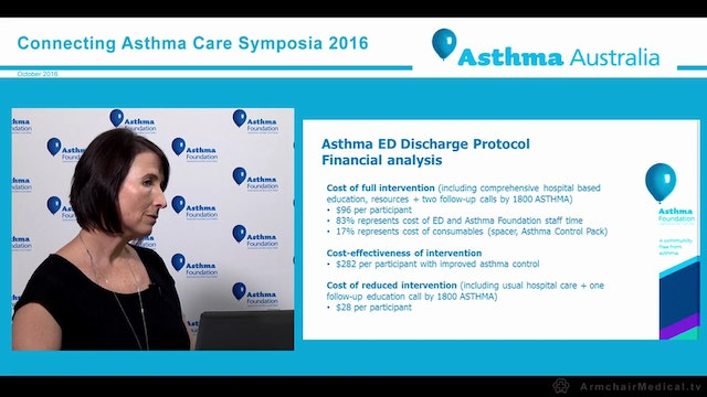 Enhanced emergency discharge procedure for asthma Tanya Raineri, Asthma Foundation Queensland and New South Wales