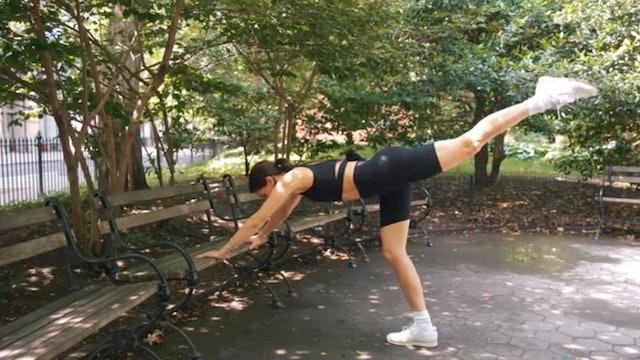 16 Min Outdoor Standing Bench Series