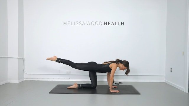 23 Min Beginner Back To Basic Pilates w/ Band, Ball & 1lb Weights