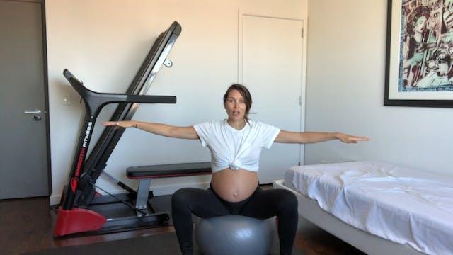 13 Min Prenatal Arms on Large Ball