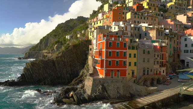 """Flying over Italy Cinque Terre""-S3597"