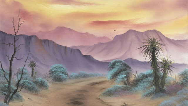 """""""Southwest Serenity""""-Painting with Bob Ross-S5113"""