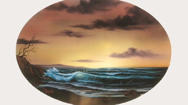 """""""Tranquil Seas""""-Painting with Bob Ross-S5125"""