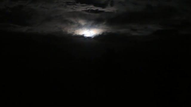 """Night Sky with Moon""-S2012"