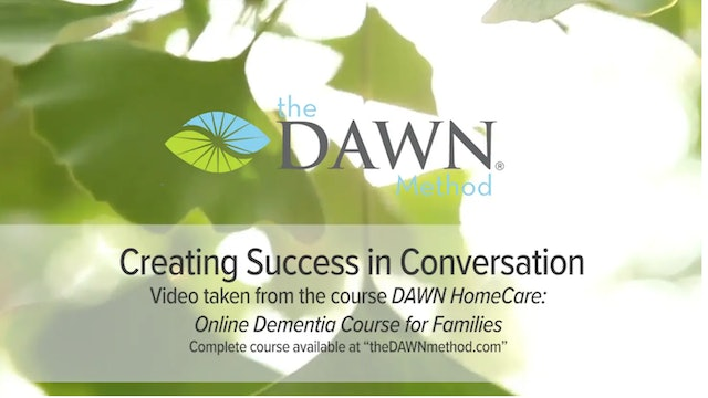 """""""Creating Success in Conversation""""-The DAWN Method-S5231"""