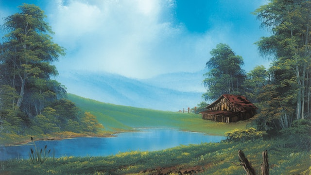 """""""Home in the Valley""""-Painting with Bob Ross-S5128"""