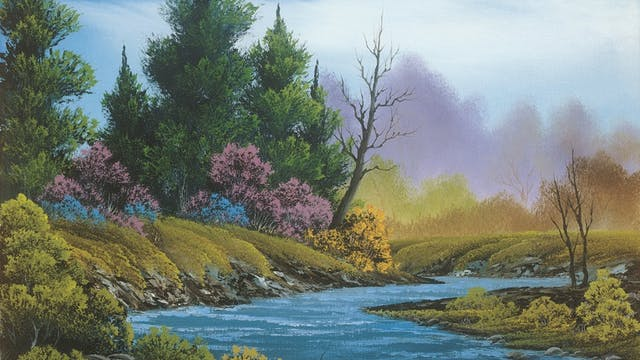 """""""A Trace of Spring""""-Painting with Bob..."""