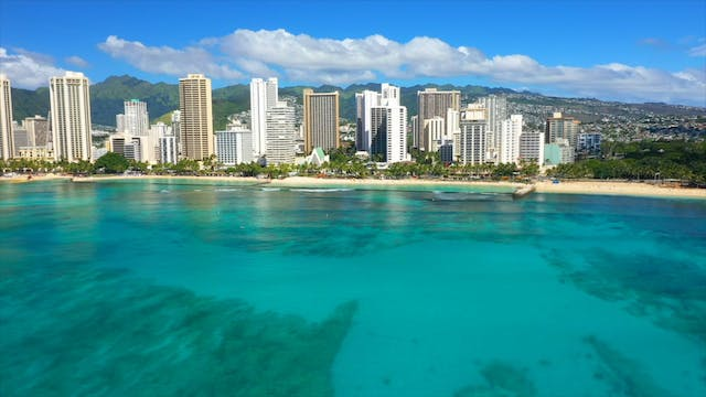 """Flying over Oahu""-S3599-1"