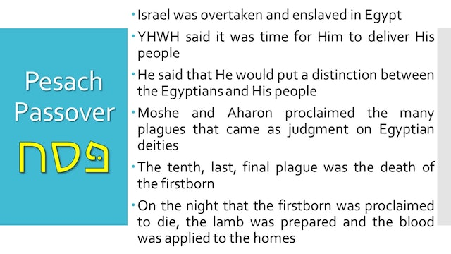 Passover explained Pt.2 - Yeshua the Passover Lamb