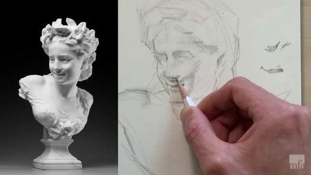 Studio Art Tutorial: Drawing from Sculpture