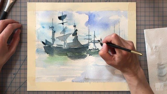 Studio Art Tutorial: Painting Seascapes