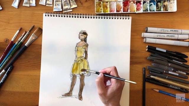 Studio Art Tutorial: Watercolor Character Study