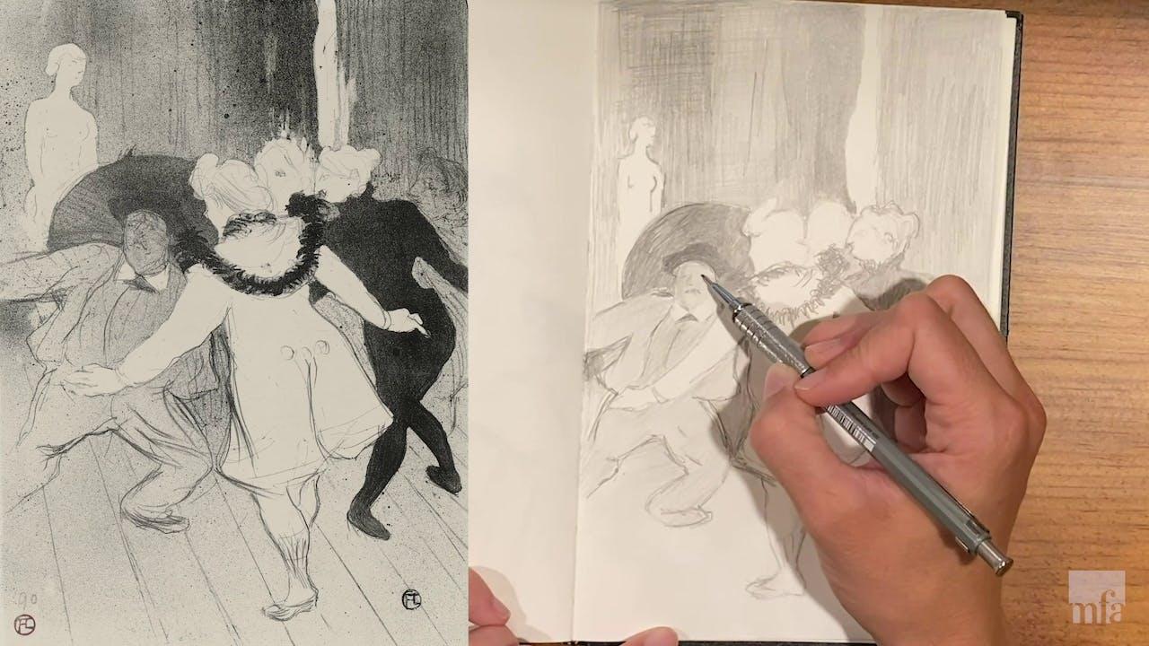 Studio Art Tutorial: Drawing the Whole Scene