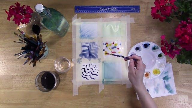 Studio Art Tutorial: Watercolor Experiments