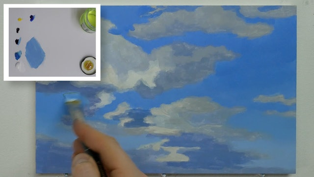 How To Paint a Simple Cloudy Sky Part 2