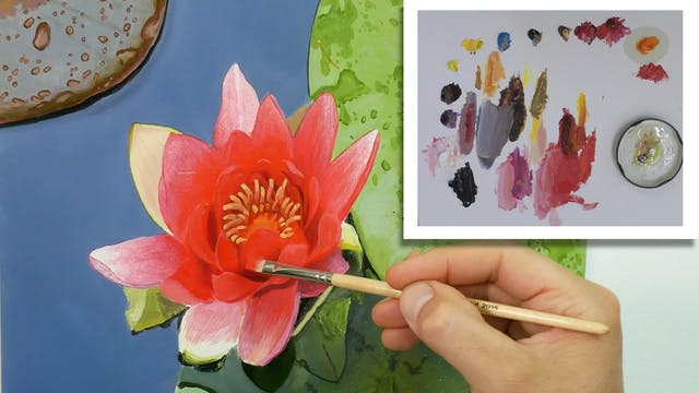 How To Paint a Lily Flower Part 6