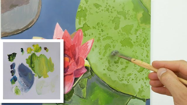 How to Paint a Lilly Flower Part 3