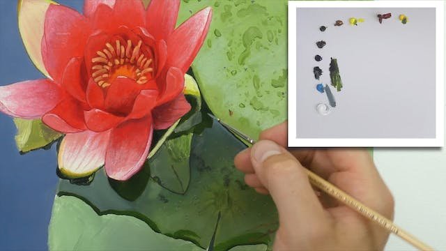 How To Paint a Lily Flower Part 7