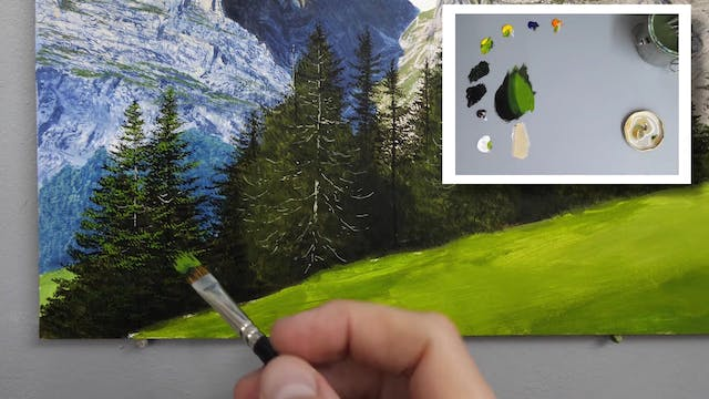 How To Paint a Mountain Part 7