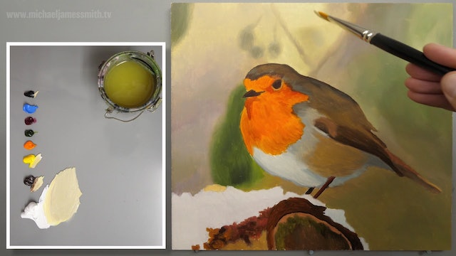 How To Paint a Robin Part 2