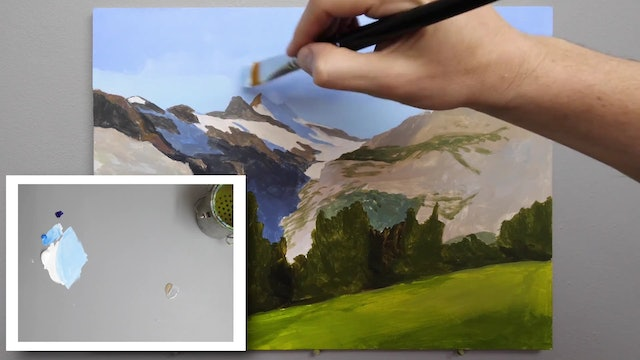 How To Paint a Mountain Part 2