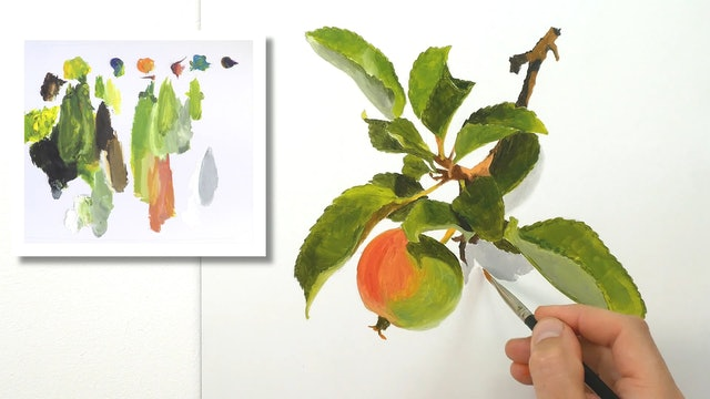 How To Paint An Apple PART 3