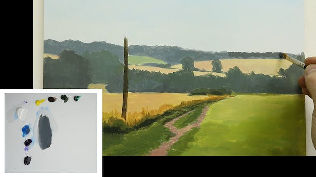 How To Paint a Simple Landscape Part 2
