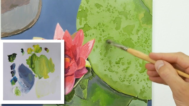 How To Paint a Lily Flower Part 3