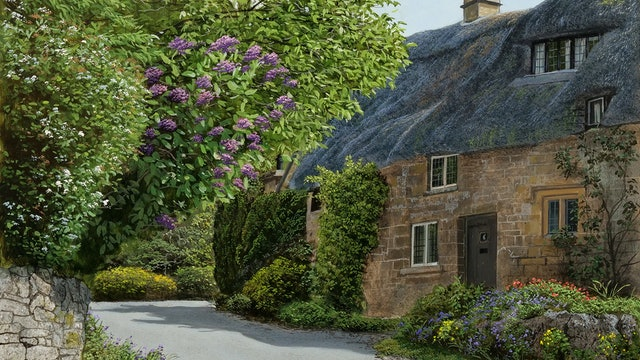 How To Paint a Thatched Cottage