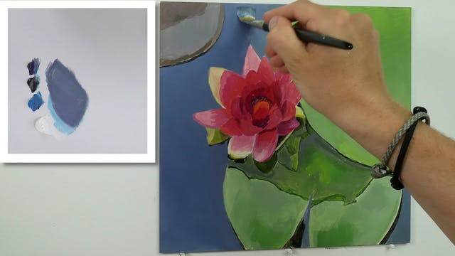 How To Paint a Lily Flower Part 2