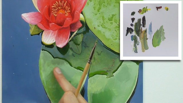 How To Paint a Lily Flower Part 8