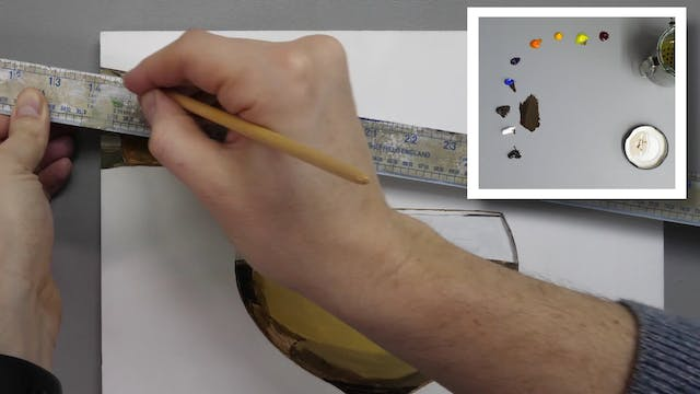 How to Paint a Champagne Glass Part 2