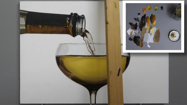 How to Paint a Champagne Glass Part 5